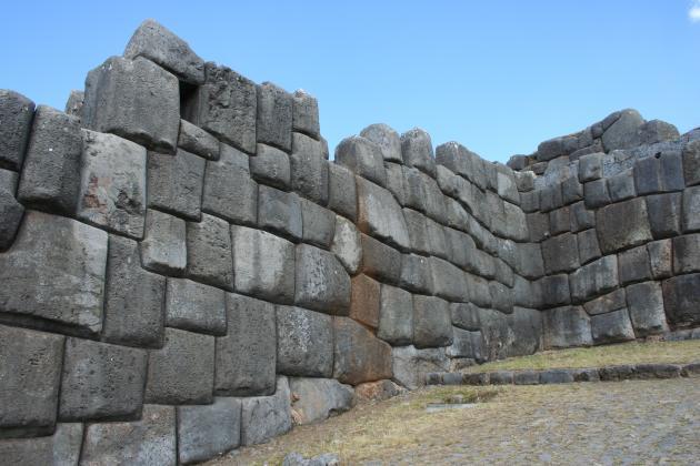 The interlocked blocks and sloped walls of Sacsayhuaman | Credit: Tanya Thompson