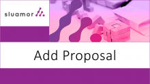 Thumbnail for the video entitled Add Proposal