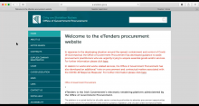 Thumbnail for the video entitled How to register a company on eTenders:- the Irish public sector tendering platform
